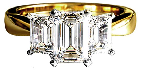 Preload https://img-static.tradesy.com/item/21605924/abc-jewelry-f-color-vs2-clarity-diamond-3-stone-emerald-cut-diamond-100tcw-engagement-ring-0-0-540-540.jpg