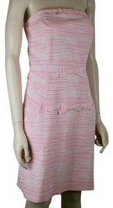 Vineyard Vines short dress PINK WHITE Striped Bows Strapless Sundress Cotton on Tradesy