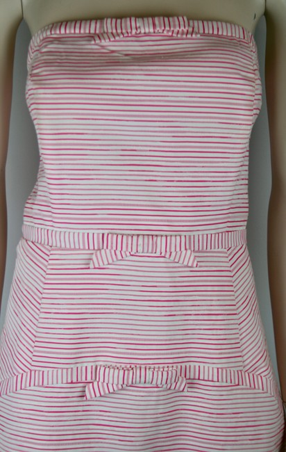 Vineyard Vines short dress PINK WHITE Striped Bows Strapless Sundress Cotton on Tradesy Image 1