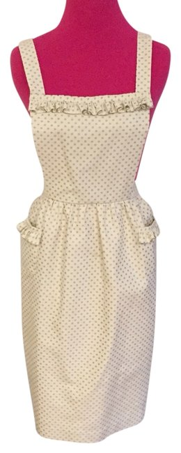 Preload https://item4.tradesy.com/images/betsey-johnson-ivory-polka-dot-apron-wiggle-cocktail-dress-size-2-xs-2160608-0-0.jpg?width=400&height=650
