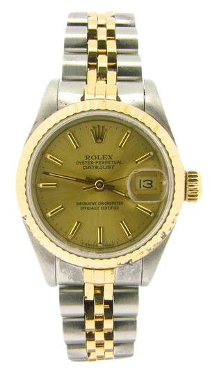 Preload https://img-static.tradesy.com/item/21606113/rolex-gold-ladies-two-tone-18kss-datejust-champagne-69173-watch-0-1-540-540.jpg