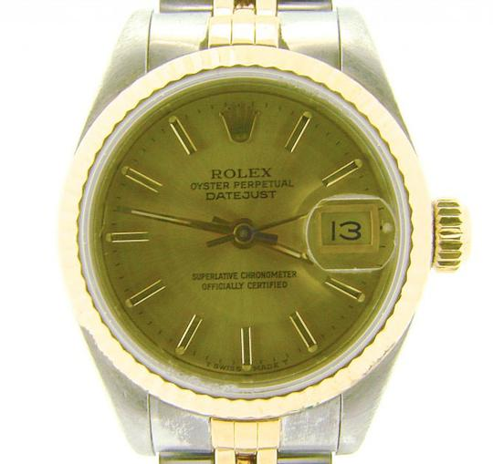 Rolex Ladies Rolex Two-Tone 18K/SS Datejust Champagne 69173 Image 3