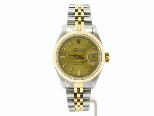 Rolex Ladies Rolex Two-Tone 18K/SS Datejust Champagne 69173 Image 4