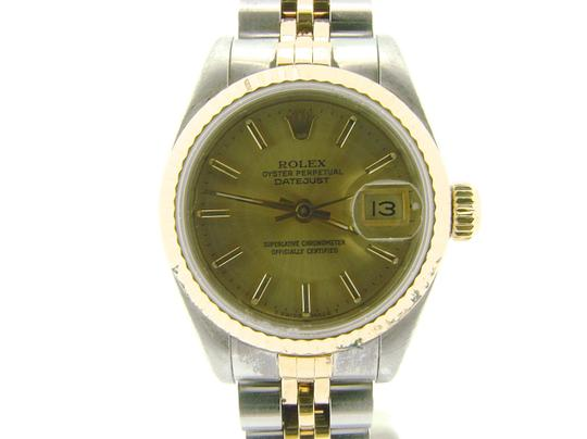 Rolex Ladies Rolex Two-Tone 18K/SS Datejust Champagne 69173 Image 5