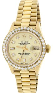 Rolex Rolex President Datejust Ladies Gold 26MM w/Diamond Dial & Bezel