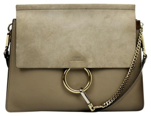 Chlo Suede Leather Chloe Shoulder Bag
