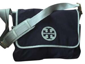 Tory Burch Retired Gold Hardware Limited Edition Navy Blue Diaper Bag