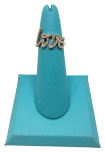 Tiffany & Co. GORGEOUS Tiffany & Co. 18k Rose Gold Script Love Ring with Diamonds
