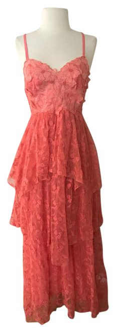 Preload https://img-static.tradesy.com/item/21606710/free-people-coral-red-lace-tiered-gown-long-casual-maxi-dress-size-2-xs-0-1-650-650.jpg