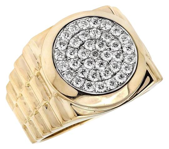 Preload https://img-static.tradesy.com/item/21606740/jewelry-unlimited-14k-yellow-gold-men-s-round-pave-genuine-diamond-presidential-pinky-130ct-ring-0-1-540-540.jpg