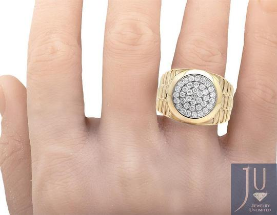 Jewelry Unlimited Men's Round Pave Genuine Diamond Presidential Pinky Ring 1.30ct