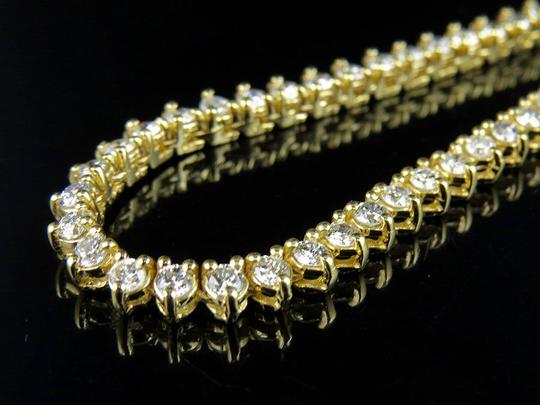 Other Martini Prong Set 1 Row 4 MM 27 In Diamond Chain Necklace 17 Ct