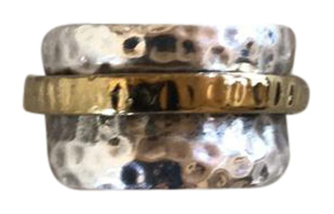 Item - Silver and Gold R1476 Ring