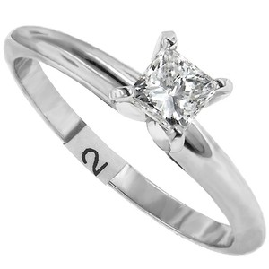 ABC Jewelry G Color Vs2 Clarity Princess Cut Solitaire Engagement Ring