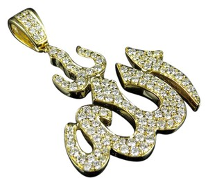 Other Unisex Islamic Arabic Allah Diamond Charm Pendant 1.50ct 1.5