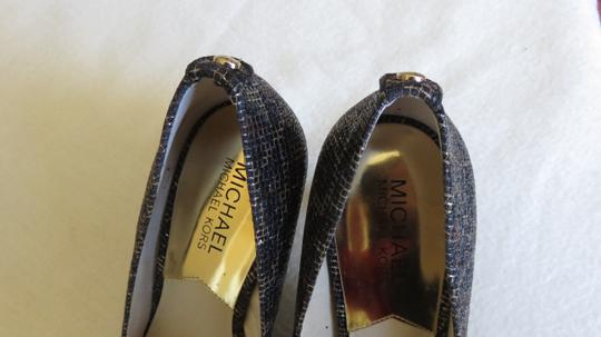 Michael Kors Gold Rubber Sole Pointed Toe Cheetah Brown /glitter Formal