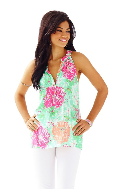 Lilly Pulitzer Top Poolside Blue Beach Walk