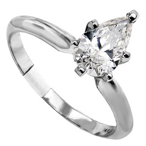 ABC Jewelry I Color Si-2 Clarity Ladies Pear Solitaire Engagement Ring