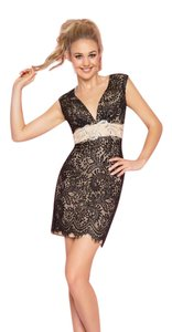 Mac Duggal Couture short dress Black Lace with embellishments on Tradesy