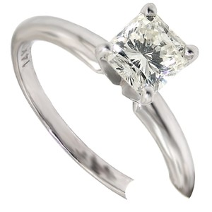 ABC Jewelry I Color Si-1 Clarity Diamond Cushion Cut Solitaire .96tcw 14k Whi Engagement Ring