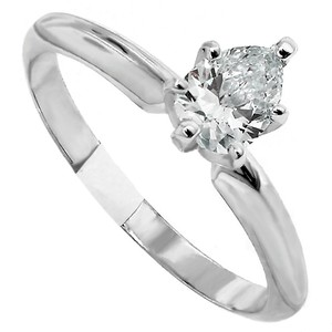 ABC Jewelry I Color Si-1 Clarity Pear Solitaire Engagement Ring