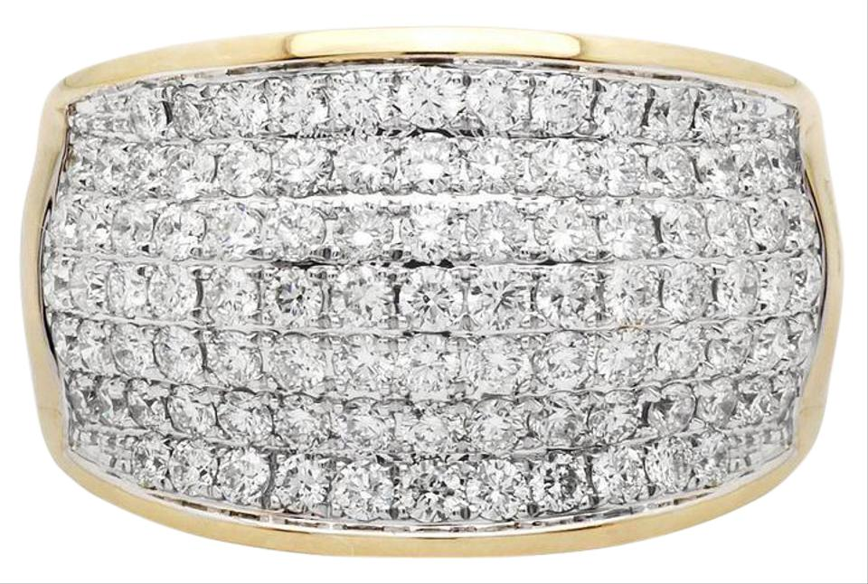 33b2cbd286a19 Jewelry Unlimited 14k Yellow Gold Mens Large Wave Paved Iced Real Vs  Diamond Pinky Band 3.0ct Ring 71% off retail