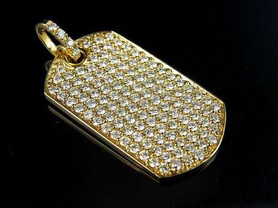 Other Men's Solid Military Dog Tag VS2 Real Diamond Pendant 3.0ct 1.2