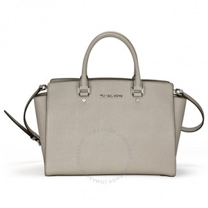 51bd2945339f Michael Kors Cross Body Satchel in Pearl Grey. Michael Kors. Selma Large  Saffiano Leather ...