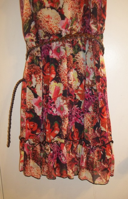 Sequin Hearts short dress yellow red black white pink green white Off-the-shoulder Frilly Floral Ruffle Stretchy on Tradesy