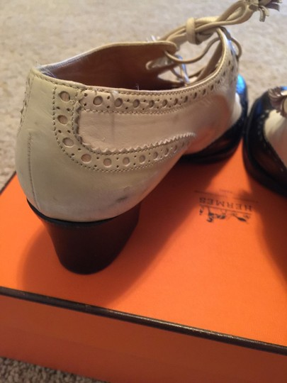 Hermès Boots Ghillies Bag Navy and Cream Pumps