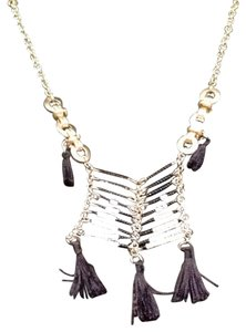 Anthropologie Anthropologie Black And White Long Layering Necklace