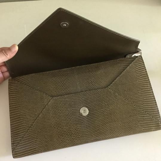 Delvaux olive green Clutch