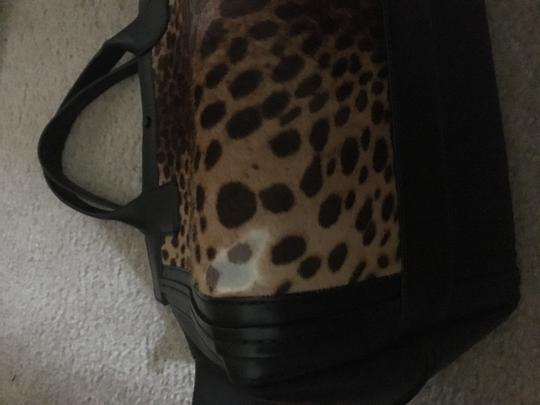 Chloé Leather Calf Hair Tote in Leopard and Black