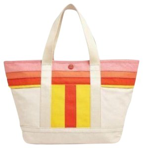 Tory Burch Tote Canvas Beach Large Shoulder Bag
