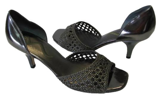 Nina New Size 9.50 Medium Excellent Condition GUNMETAL Sandals