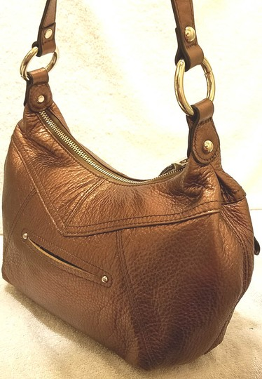 B. Makowsky Refurbished Leather Lined Shoulder Bag