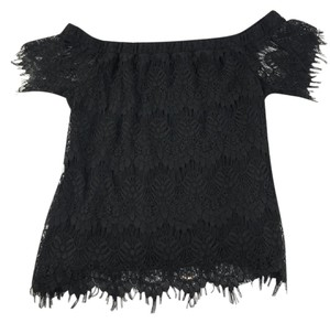 City Chic Lace Offtheshoulder Top Black