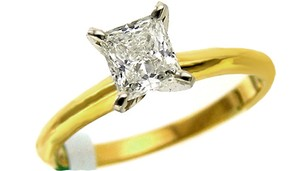 ABC Jewelry Color: J Clarity: Vs2 1.00ct Radiant Cut Diamond Engagement Ring