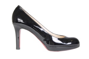 Christian Louboutin Patent Red Bottoms Black Pumps