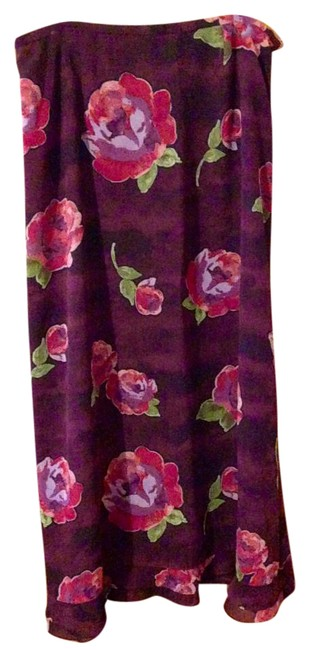 Item - Wine and Roses Skirt Size 14 (L, 34)