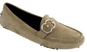 Gucci Womens Moccasin 370616 Women Taupe Flats