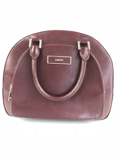 DKNY Refurbished Leather Cranberry Convertible Crossbody Satchel in Purple