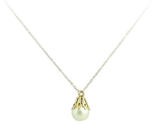 Preload https://img-static.tradesy.com/item/21608321/pearl-drop-chained-14k-yellow-gold-necklace-0-1-540-540.jpg