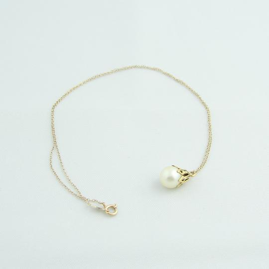 Other Pearl Drop Chained Necklace- 14k Yellow Gold