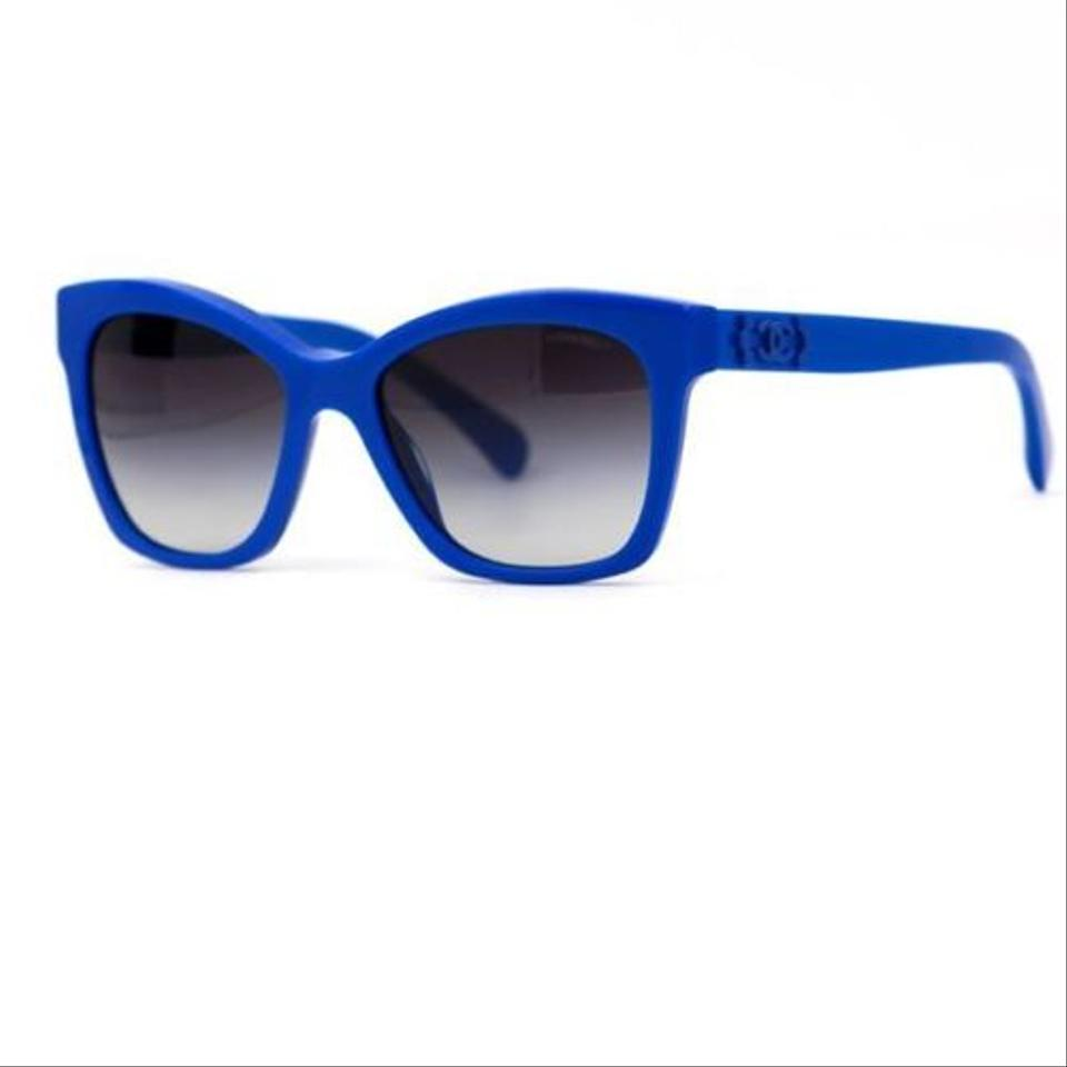Chanel Blue Cc Logo Pantos Frame with Gray Gradient Lenses ...