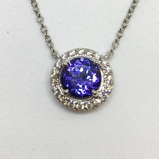 Tiffany & Co. BEAUTIFUL Tiffany & Co. Soleste Tanzanite Diamond Platinum Pendant