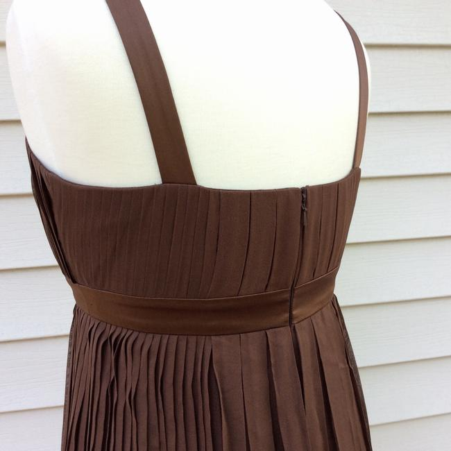 Anne Klein Silk Chocolate Chiffon Empire Waist Dress