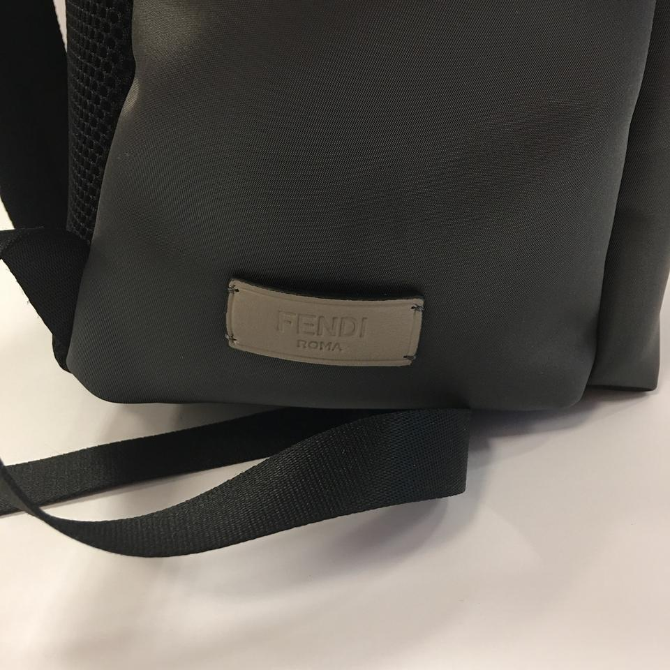 f9cc55a84743 Fendi Monster W Watersnake   Fur Details Grey Calf Leather and Fabric with  Snakeskin Panel. Backpack - Tradesy