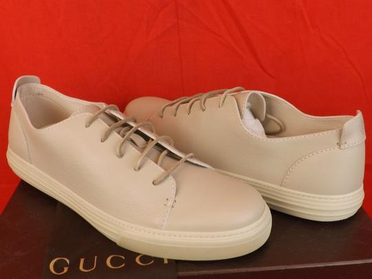 Gucci White Hysteria Mens Mystic Leather Lace Logo Sneakers 12.5 13+ 342038 Shoes