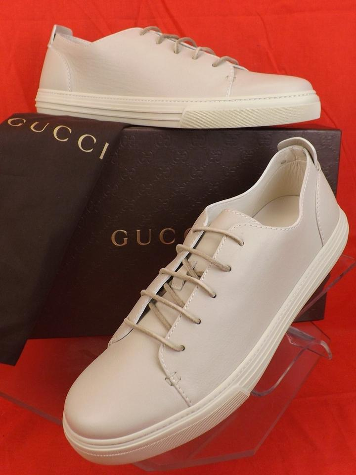 c16a02dbe2c Gucci White Hysteria Mens Mystic Leather Lace Logo Sneakers 11 12 342038  Shoes Image 0 ...